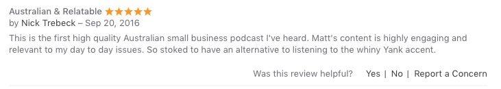 iTunes testimonial - Nick T