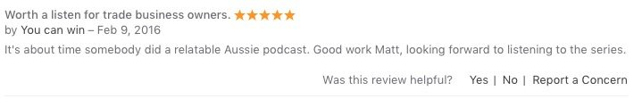 iTunes testimonial - You can win